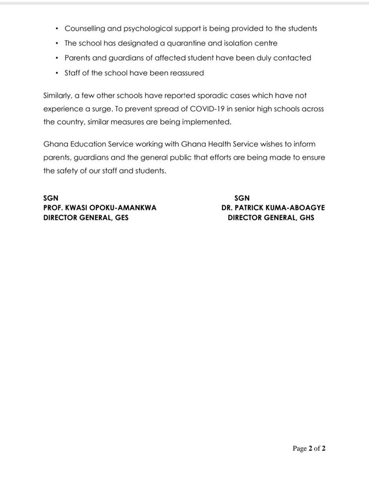 GES & MOH Statement Page 2