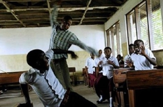 Caning Students