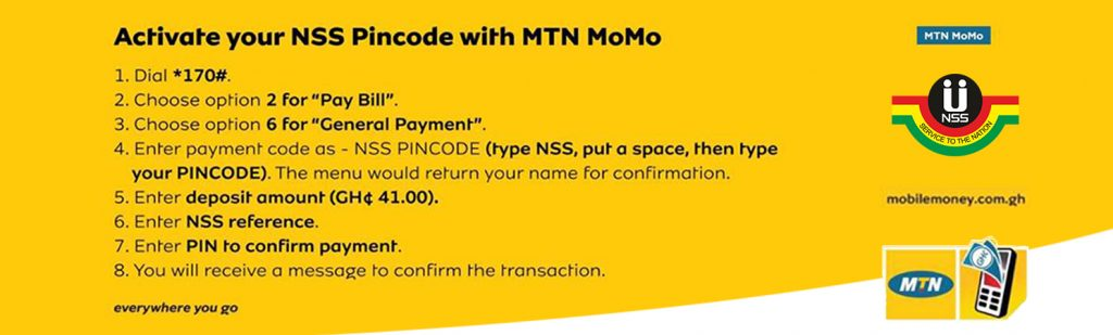 How To Pay For Your NSS PIN Code Via Mobile Money