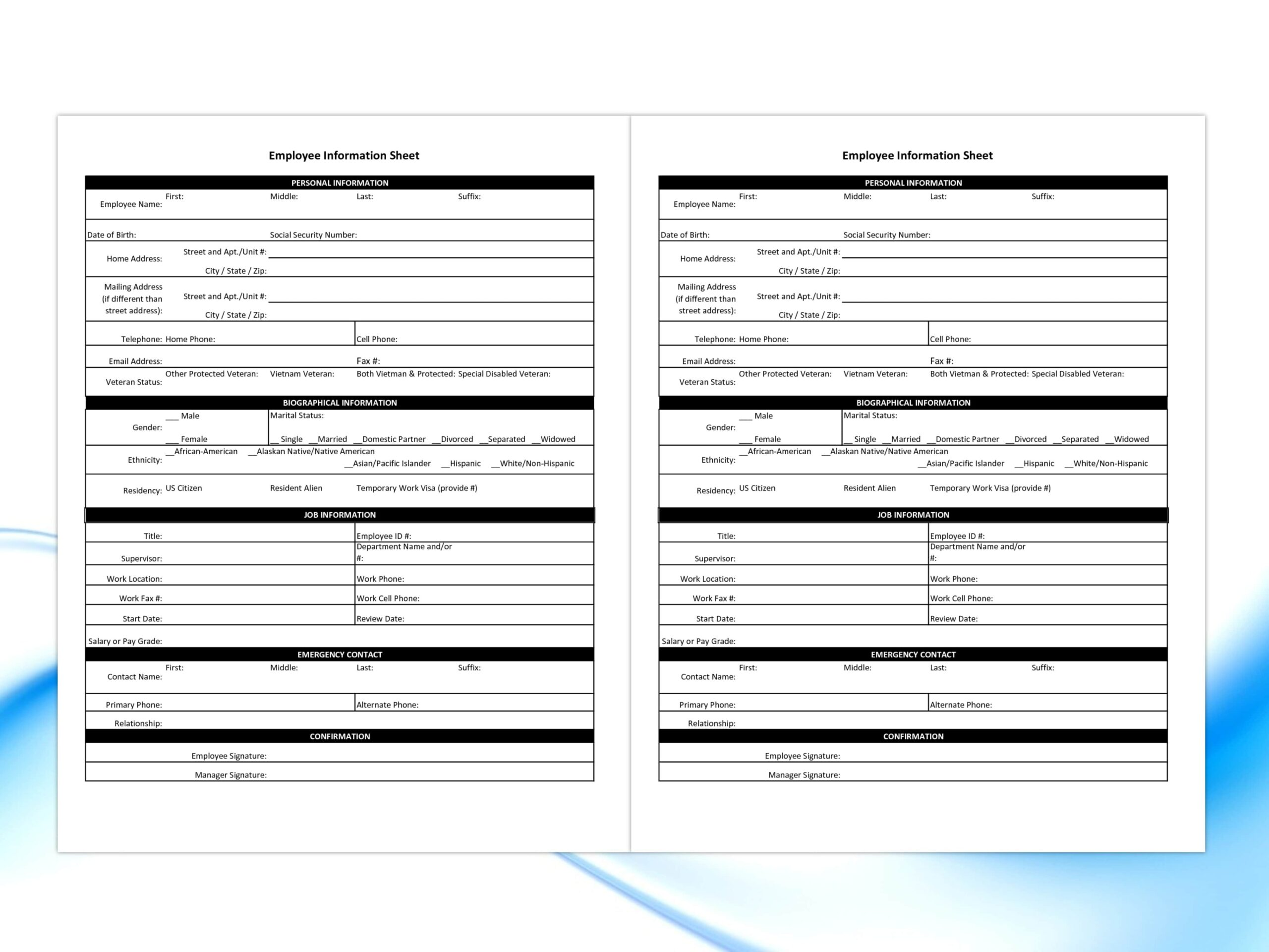 GES Personal Record Form