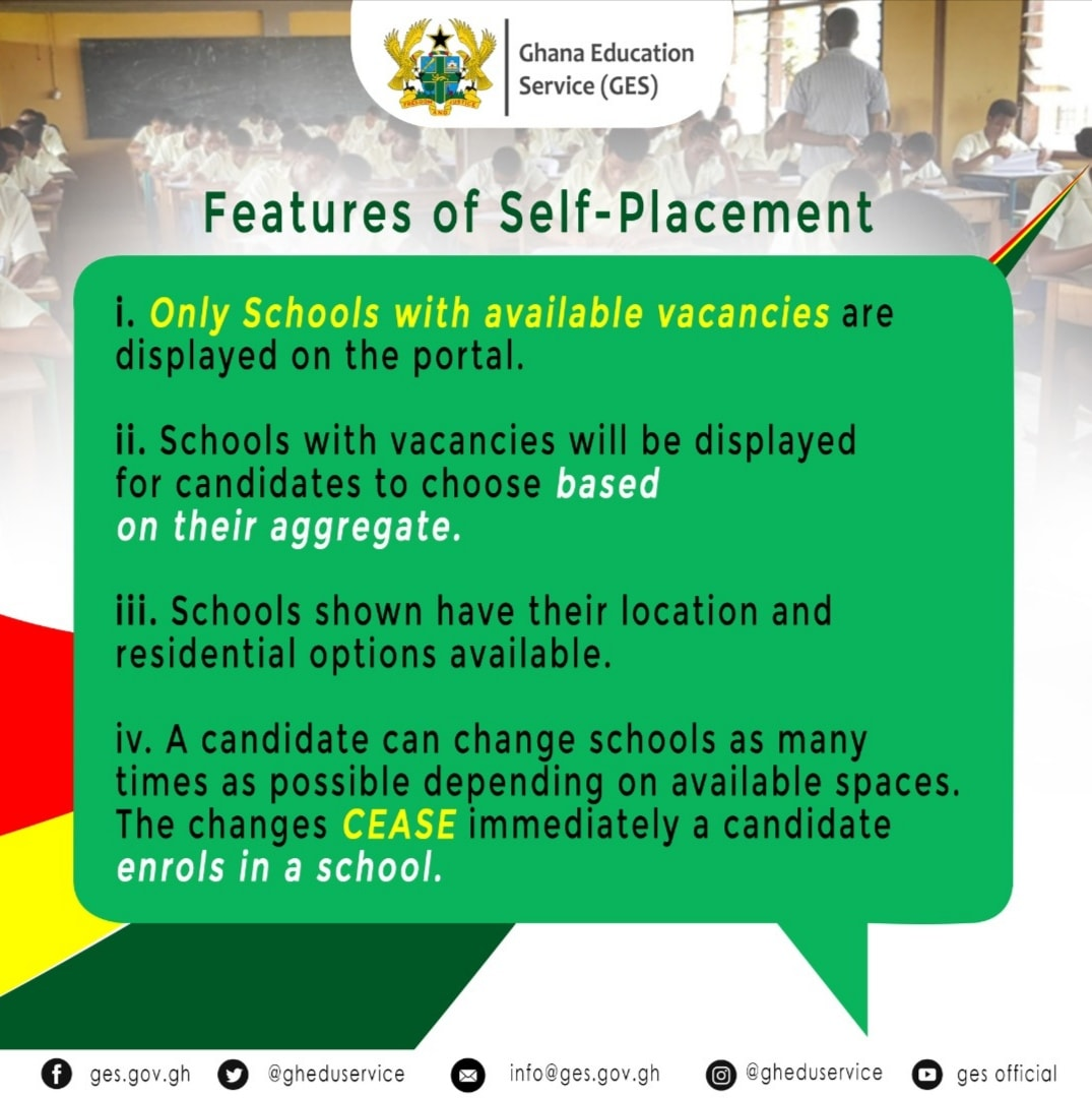 Features Of Self-Placement