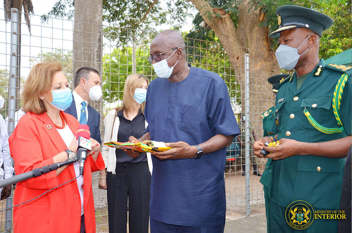 Mr. Ambrose Dery (MP) Receiving The Donation