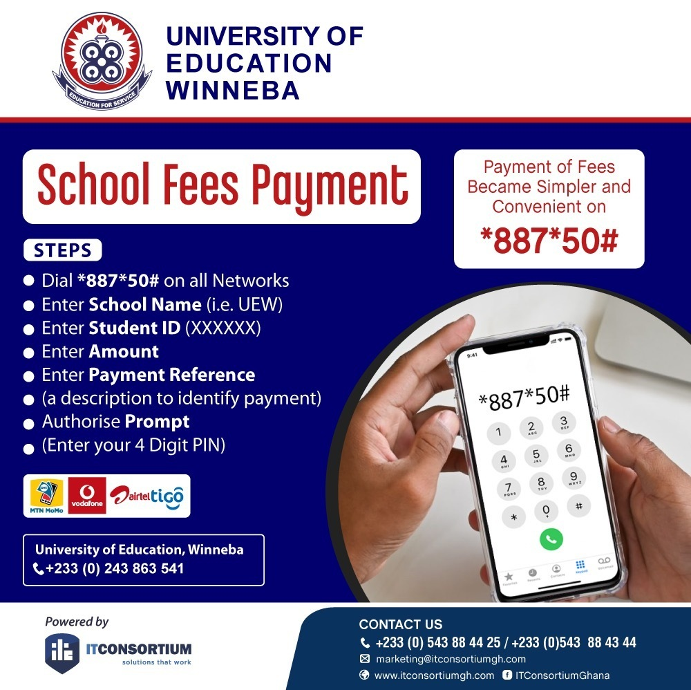 Pay UEW Fees Using Mobile Money