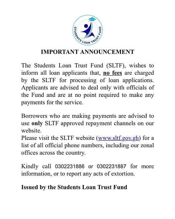 SLTF Notice To Applicants