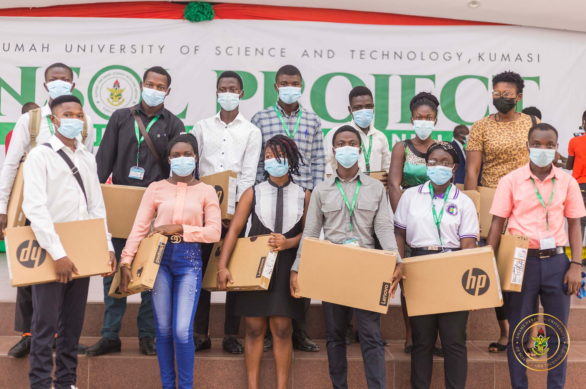 SONSOL Project - Needy but brilliant students receives laptops