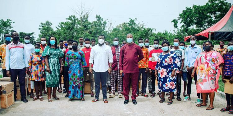 Beneficiaries Of Ntim Fordjour's Donation At Assin Adubiase
